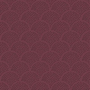 Tiny little speckled scales spots in abstract waves water shape dots texture neutral nursery red wine berry