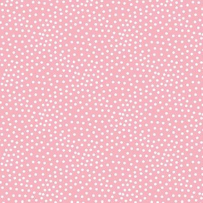 Tiny little spots in abstract waves scales shape dots texture neutral nursery soft bubble gum pink white