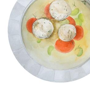 Matzo ball soup (Matzah)