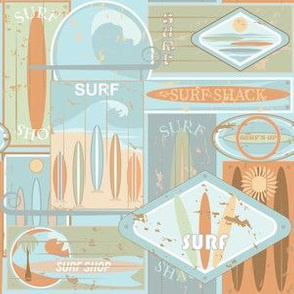 Sun-bleached, Surfboard, Surf Shack Signs Small