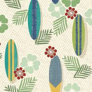 Aloha Surfers Ivory Medium