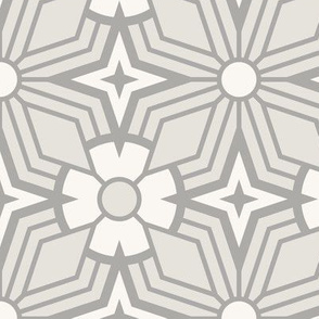 Retro Geometric - Large Scale Gray