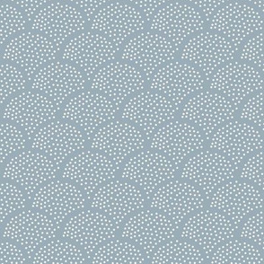 Tiny little speckled scales spots in abstract waves water shape dots texture neutral nursery cool blue ocean