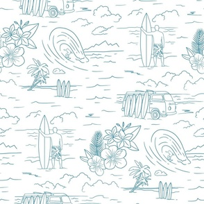 Surf Toile de jouy