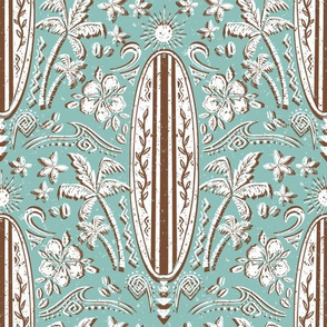 surfboard brown turquoise