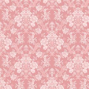 Elegant Pastel Floral Damask-Pink