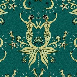 Art Deco Mermaids and Moonlight
