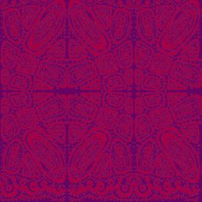 Friends 2 - Batik Style - Red & Purple