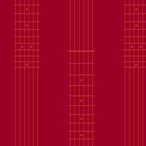 guitar fretboard stripe - ruby red