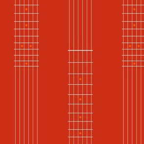 guitar fretboard stripe - red and orange