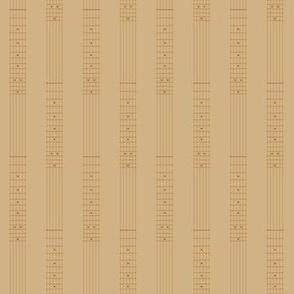 small guitar fretboard pinstripe - 1960s brown on tan