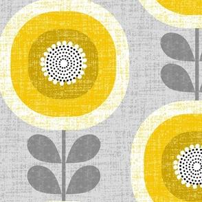 midcentury sunflowers -jumbo