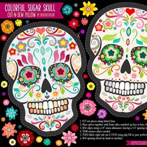 Cut-N-Sew Colorful Sugar Skull