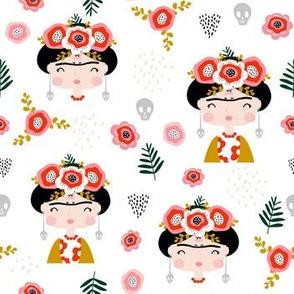 Frida Khalo floral pattern