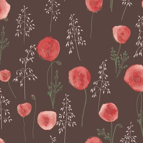 Poppies and oats_earth collection