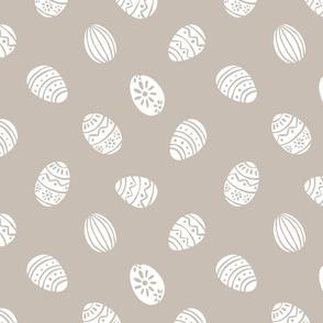 easter eggs brown