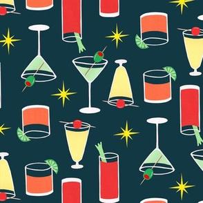 Cocktails Dark Teal