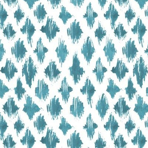 Teal watercolor abstract pattern - brush stroke painted design