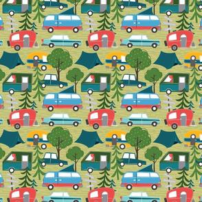 camping and cars