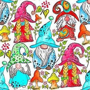 Watercolor Gnomes
