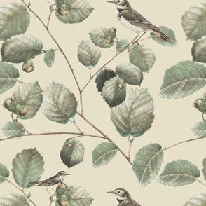 Opa's Hazelnut Tree in Cream | Desaturated Palette