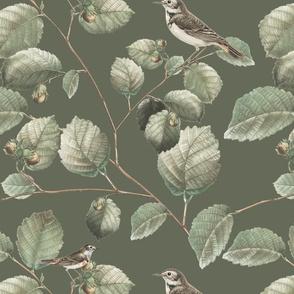 Opa's Hazelnut Tree in Ebony Green | Desaturated Palette