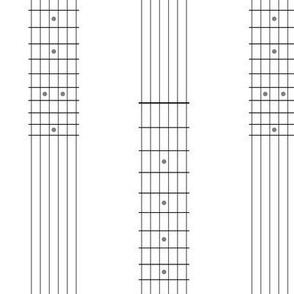 guitar fretboard stripe - black and white