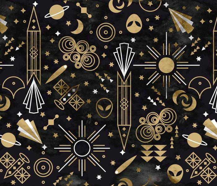 Art deco Outer Space Medium scale Non directional