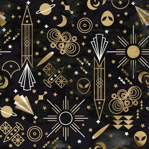 Art deco Outer Space Medium scale Non directional