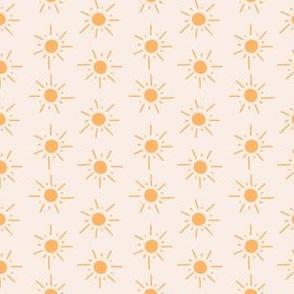 Small Yellow Suns on Light Yellow