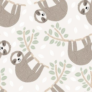 hanging sloths // taupe