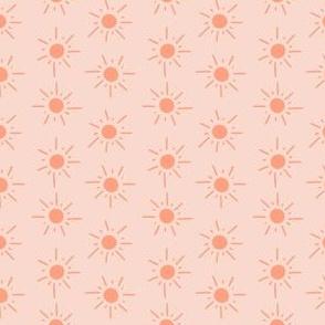 Small Suns in Coral Peach