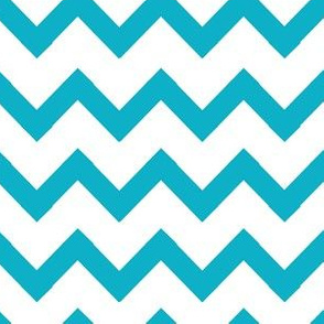 simple chevrons turquoise