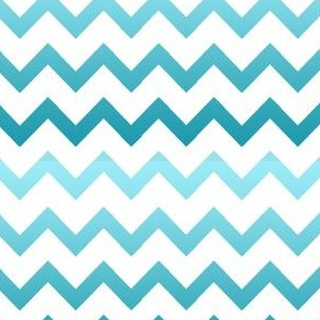 Chevrons Ombre Turquoise