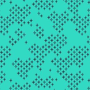 Diamond Pith - Turquoise
