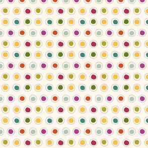 Bright Multicolour Painted Dots