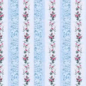 Country French Rose Stripes