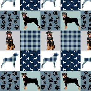 Rottweiler Dog Quilt pattern