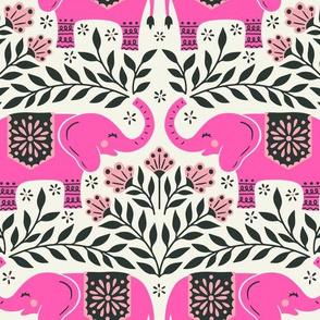 Lucky Elephants - Medium Scale Pink