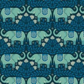 Lucky Elephants - Small Scale Blue
