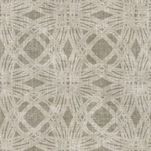 Simple Circles on Coarse Linen in Neutral Greige