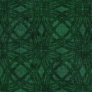 Simple Circles on Coarse Linen in Deep Emerald Green