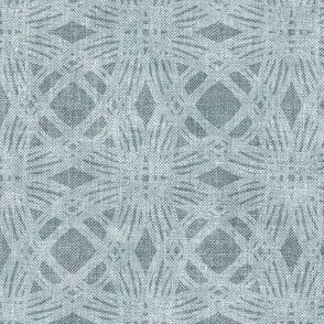 Simple Circles on Coarse Linen in Soft Grey Blue