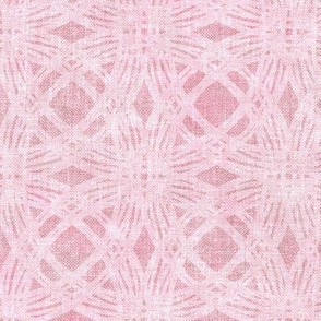 Simple Circles on Coarse Linen in Rose Pink