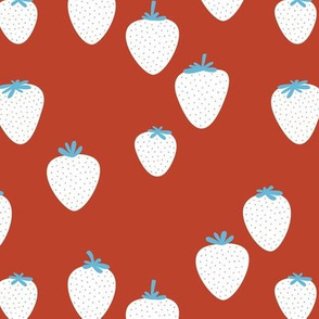 The sweet strawberry garden minimalist fruit boho style nursery american red blue white traditional usa colors