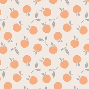 Soft minimalist summer fruit garden nursery blush orange gray neutral SMALL