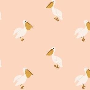 Boho pelicans in blush-4x3