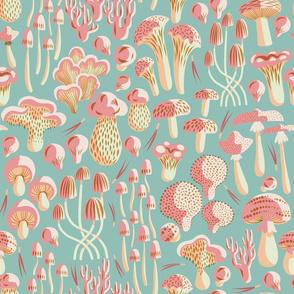 Forest Floor Fungi - Aqua
