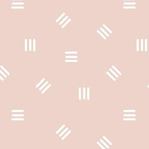 Medium Tossed Short Lines in Neutral Light Dusty Pink Warm Beige