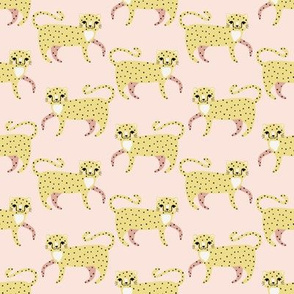 small scale // cheetah march light pink